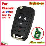 Tasto astuto a distanza di vibrazione Keyless per Chevrolet con 4 la lamierina del chip Hu100 dei tasti Ask433MHz ID46