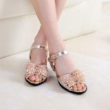 Мэри Джейн Свадебное розовый лук бабочка обувь для девочек