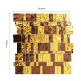 벽을%s 금 그리고 브라운에 의하여 섞이는 스테인드 글라스 모자이크