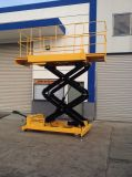 Table élévatrice hydraulique de ciseaux de la capacité 500kg (hauteur maximum 8m)
