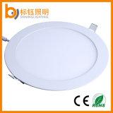 Abertura del montaje de techo ultra delgado SMD LED Panel ligero redondo 18W 225 * 225mm