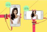Bastone di Selfie collegato formato supremo della penna 2016 Mini5
