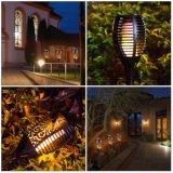 Decorazione esterna del giardino dell'iarda del prato inglese di via LED della torcia della fiamma dell'indicatore luminoso solare dell'alberino