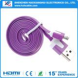 Nuevo cable plano de carga del USB del cable de la alta calidad colorida que viene