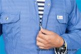Vêtements de travail de combinaison de sûreté de chemise du polyester 35%Cotton de 65% longs avec r3fléchissant (BLY1023)