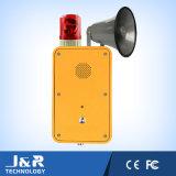 標識が付いているVoIPの産業電話、トンネルの電話および音響器