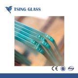 Limpar o vidro temperado com orifícios de silk-screen bordas polidas