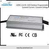Openlucht Programmeerbare Constante Huidige Waterdichte HOOFDBestuurder 320W 94~152V