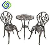 Los bistros de 3 pedazos fijaron la fundición de aluminio múltiple del color de los muebles al aire libre