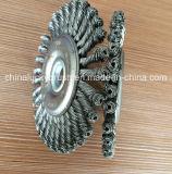 escova de aço da roda do fio do nó 4inch (YY-589)