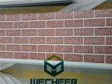 Панель стены текстуры кирпича красного цвета внешняя для украшения