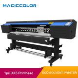 Le vinyle autocollant 1,6 m éco solvant Machine d'impression avec Epson DX5