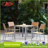 Legno di plastica che pranza insieme, giardino che pranza insieme, mobilia di legno di plastica