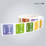 RFID Impreso programado 13.56MHz Ntag213 Etiqueta NFC
