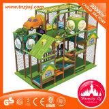 Campo de jogos plástico do PVC das crianças do equipamento interno da selva