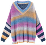 Comercio al por mayor Lady's Sweater Color Mohair tejidos