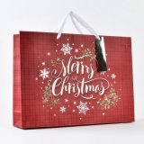 Shopping Bag Gift Bag Package Bag Purple Christmas Wrapping Paper