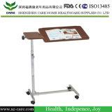 Tabella registrabile pranzante di legno del letto di ospedale della scheda con il cassetto