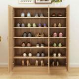 小さい寝室の木製の靴のキャビネットのためのデザイン
