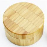 Le produit de beauté en bambou de conteneur en bois cogne 30g 50g 100g