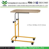 引出しが付いている木の食事のボードの調節可能な病院用ベッド表