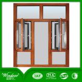 석쇠는 백색 프레임 PVC 슬라이딩 윈도우를 디자인한다