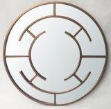 Blocco per grafici d'ottone dello specchio della parete di arte del metallo francese decorativo di stile