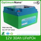Rechargeble 12V 30ah Lithium-Batterie für LED-Licht
