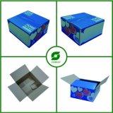 Bフルートの緑色の印刷の荷箱