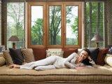 最上質の贅沢なアルミニウムクラッディングのカシ木Windows
