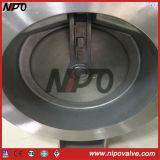 Tipo singola valvola di ritenuta della cialda dell'acciaio inossidabile del piatto