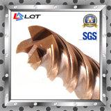 HRC moinhos de extremidade do carboneto do aço de tungstênio de 65 graus