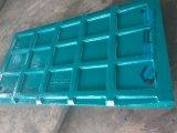 Placa da maxila das peças sobresselentes do triturador