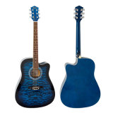 High Quality Color Cutway Acoustic Guitar clouded