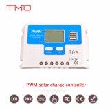 contrôleur solaire intelligent de charge de volt PWM de volt 24 de 20A 30A 12 avec le mode de contrôle de rupteur d'allumage réglable, les ports USB, et l'écran LCD