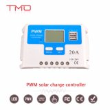 20A 30A 12 볼트 24 볼트 조정 가능한 타이머 콘트롤 모드, USB 포트 및 LCD 디스플레이를 가진 지적인 PWM 태양 책임 관제사
