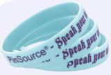 Bracelets chauds promotionnels de silicones de vente d'impression de vente en gros de bonne qualité d'OEM