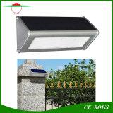 Lumière solaire extérieure solaire en aluminium de mur de la lampe IP65 DEL du détecteur de mouvement de radar à micro-ondes de qualité durable 48LED 1000lm
