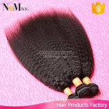 3 pacotes de cabelo humano negociam em linha reta o cabelo peruano não processado Kinky peruano do Virgin de 100%