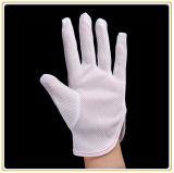 Conductora de puntos de PVC antiestático de sala limpia guantes