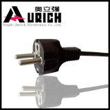 Tipo superiore inserto della Turchia dell'insieme di cavo di Pin di certificazione 3 del VDE del cavo elettrico della spina