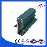 Perfil de recubrimiento de polvo de aluminio de extrusión de la pared de cortina
