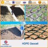 En PEHD à structure alvéolaire Geocel en plastique pour la route de gravier