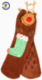 Il modo unisex personalizzato di Elastane del poliestere del cotone colpisce con forza i calzini di natale