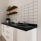 Австралия Oppein проекта маленький белый лак деревянные кухонные шкафы (OP14-L05)