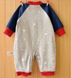 아기 옷에 있는 귀여운 인쇄를 가진 긴 소매 유아 장난꾸러기 그리고 자수