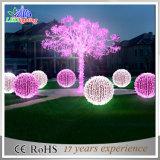 Esfera do motivo do diodo emissor de luz da esfera de CE/RoHS 3D com luz dos flocos de neve