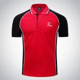 La camicia di T casuale su ordinazione di polo della camicia di polo supera la maglietta di svago del poliestere di alta qualità
