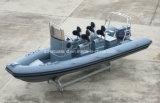 Barco inflável rígido do bote de salvamento 12persons de Aqualand 19feet 5.8m/patrulha do reforço/barco de motor (RIB580T)