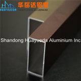 Perfil de aluminio de la nueva del diseño del perfil del bronce capa de aluminio del polvo para Windows y las puertas